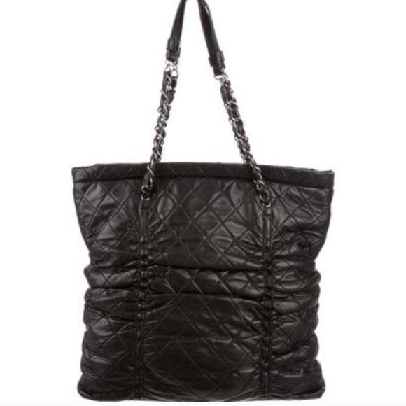 a0d4da557a47 CHANEL Handbags - CHANEL Quilted Sharpei Lambskin Bag in Black